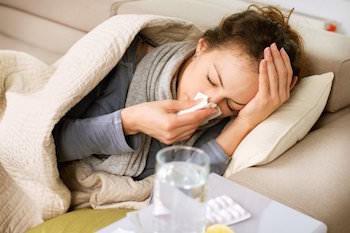 Stamma hemma när ud är sjuk