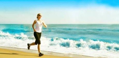 Löptur på stranden