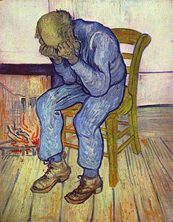 Konstnären Van Gogh led av depression