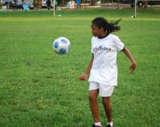 ung damfotbollsspelare