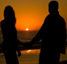 Kära i solnedgången