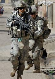 Amerikanska soldater på språng