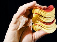 Ät mindre med visuella markörer i maten