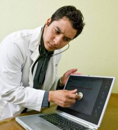 Läkare använder Internet