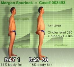 Spurlock gick snabbt upp i vikt