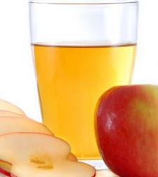Ett glas äppeljuice
