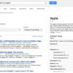 Google räknar kalorier och listar näringsvärden automatiskt vid en given sökning