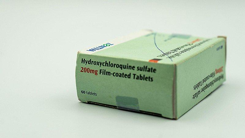 En grön förpackning Hydroxiklorokin